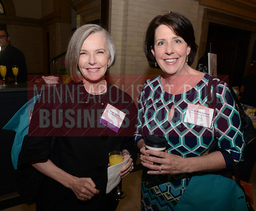 2017 Women in Business award winner Alison Brown (left) and Mimi Daly Larson of the Minnesota Science Museum.
