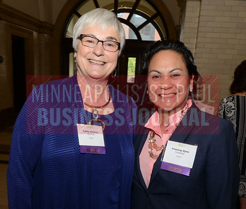 2017 Women in Business award winners Cathy Connet (left) and Liwanag Ojala.