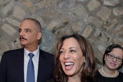 Eric Holder and Kamala Harris