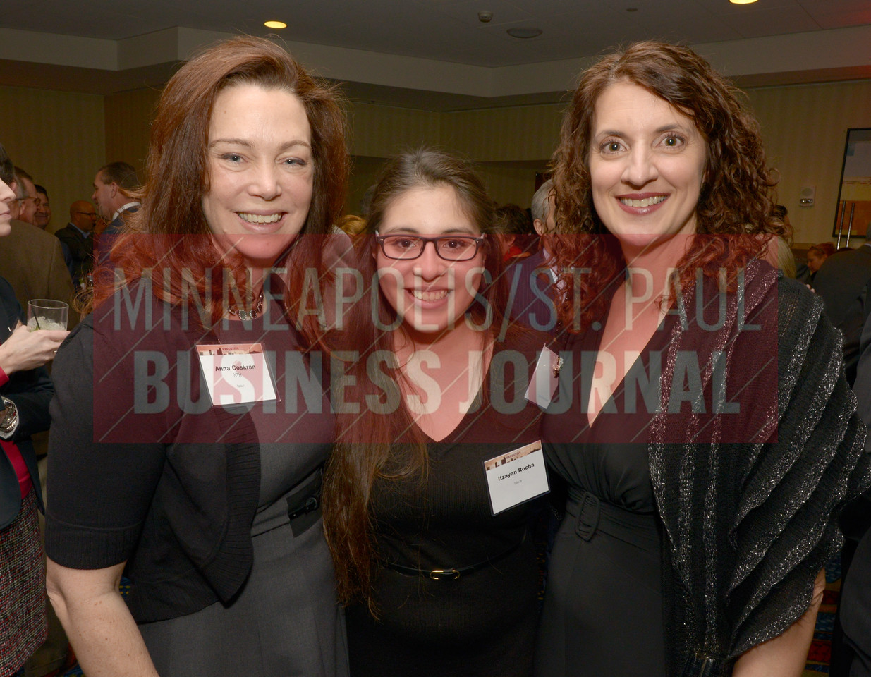 From left, Anna Coskran, Itzayan Rocha and Kris Donnelly