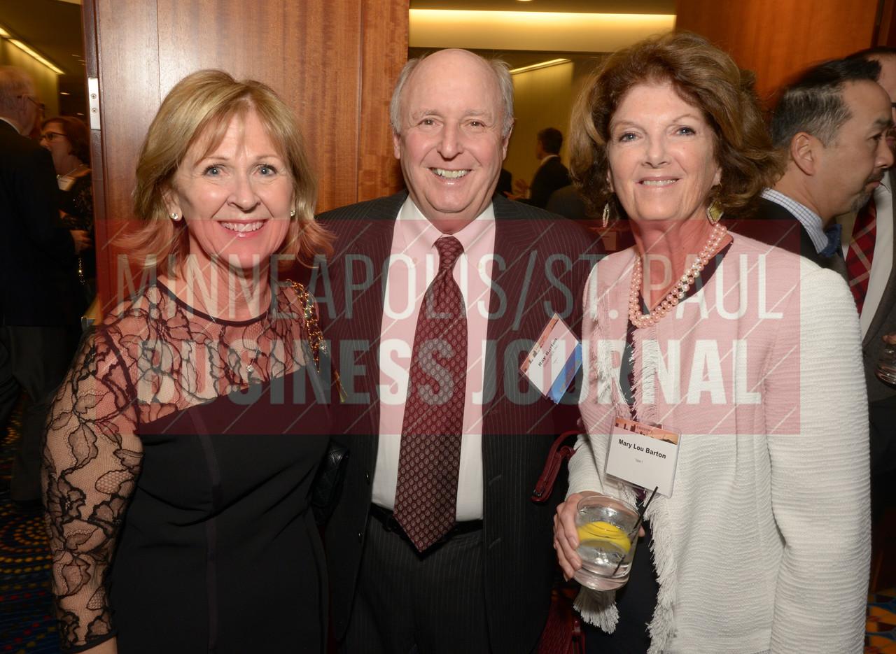 From left, Ann Ryan, Ray Barton and Mary Lou Barton