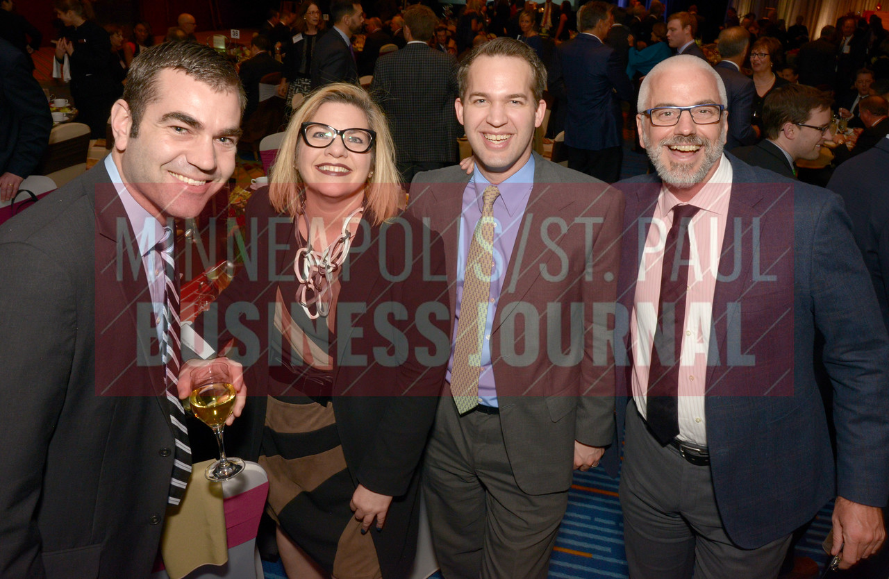 From left, Paul Rasmussen, Kittie Fahey, Hans Thomsen and Chad Brown of the Twin Cities United Way.