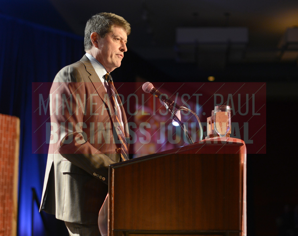 Jeff Smith spoke at the Executive of the Year event.