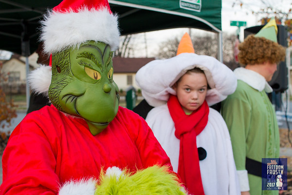 Runners dressed in their best Christmas attire, ugly sweaters and all, came out to Lawrence Plaza on the unseasonable warm Saturday morning to run the Freedom Frosty 5k put on by Run Bentonville.