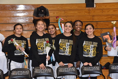 2017 Girls Basketball Senior Night