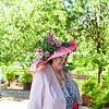 Laura Sale won the Best Hat award at today Juleps & Jockeys fundraiser for United Way held at Oak Hill Stables.  Photo ©Joey Brent