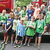 Star Photo/Bryce Phillips <br /> A group of rangers are all smiles after learning about fighting fires from a member of the Roan Mountain Volunteer Fire Department.