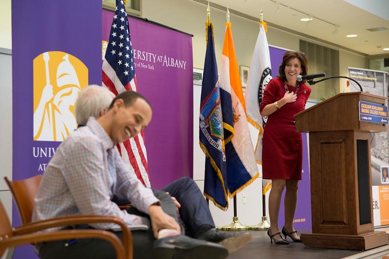 Lieutenant Governor Kathy Hochul at UAlbany