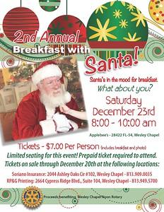 Breakfast with Santa 2017 Wesley Chapel