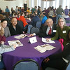 Future UAlbany Scholars and their families had the opportunity to meet and have lunch with distinguished faculty, staff and students. Photo by Michael Parker