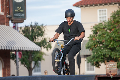 2017 Slaughter Pen Jam Mountain Biking Festival events kicked off at the Bentonville Square with the Monster Energy Stunt Team show.