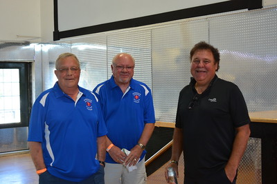Brad Thrall and Dennis Rolfes, Riverdale Ambulance Squad volunteers with Lee Bertsch, owner of Riverdale High Lodge - 7-15-17