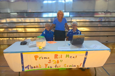 Ticket sellers @ Riverdale, ND Ambulance Squad annual fundraiser at Riverdale High Lodge - 7-15-17