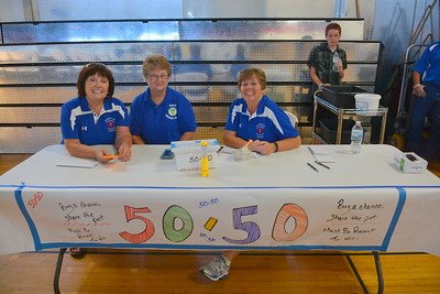 50-50 table @ Riverdale, ND Ambulance Squad annual fundraiser at Riverdale High Lodge - 7-15-17