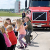 John P. Cleary |  The Herald Bulletin<br /> United Way's 4th annual Human Truck Pull.