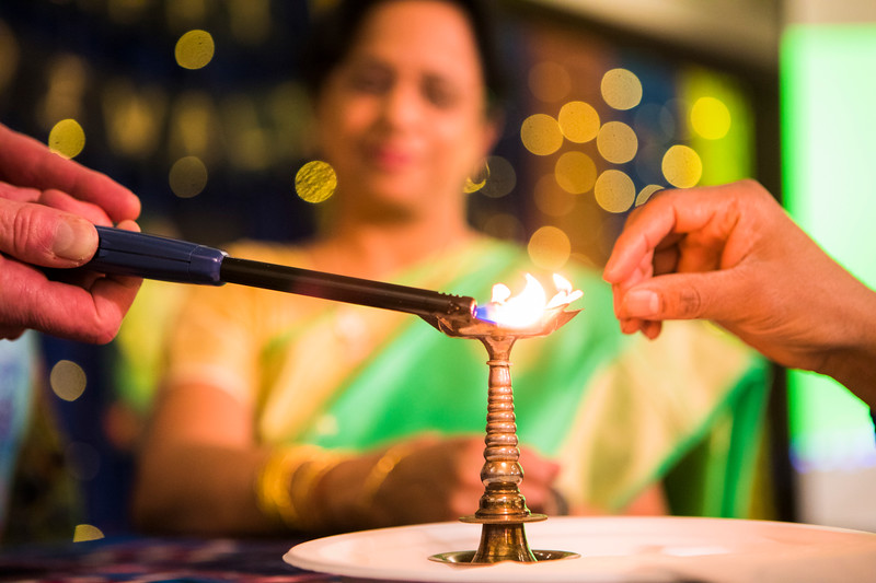 Tori  Administration, Alumni, students, staff, faculty, and members of the community,   celebrate Diwali with lights, food, dancing, and good company at an event organized by the UAF Namaste India student organization at the Wood Center Ballroom.