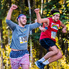 Nannook basketball players Michael Kluting (left) and Joe Lendway (right) compete in the Moda Health Blue and gold meet on Sept. 8. The race was open to any athletes or community members to compete in.