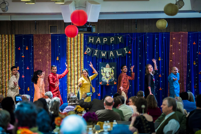 Administration, Alumni, students, staff, faculty, and members of the community,   celebrate Diwali with lights, food, dancing, and good company at an event organized by the UAF Namaste India student organization at the Wood Center Ballroom.