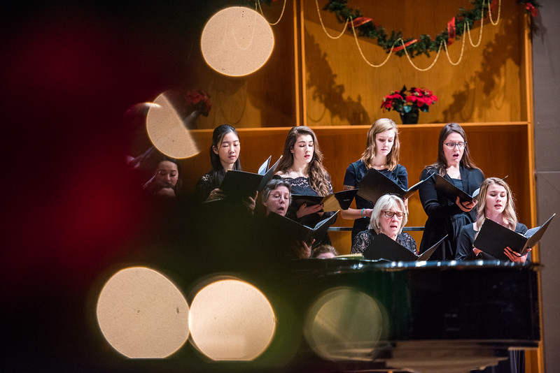 The Choir of the North performs their annual winter concert on Dec. 9, 2017, in the Davis Concert Hall.