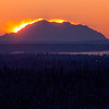 The sun sets spectacularly over Denali on Nov. 20.