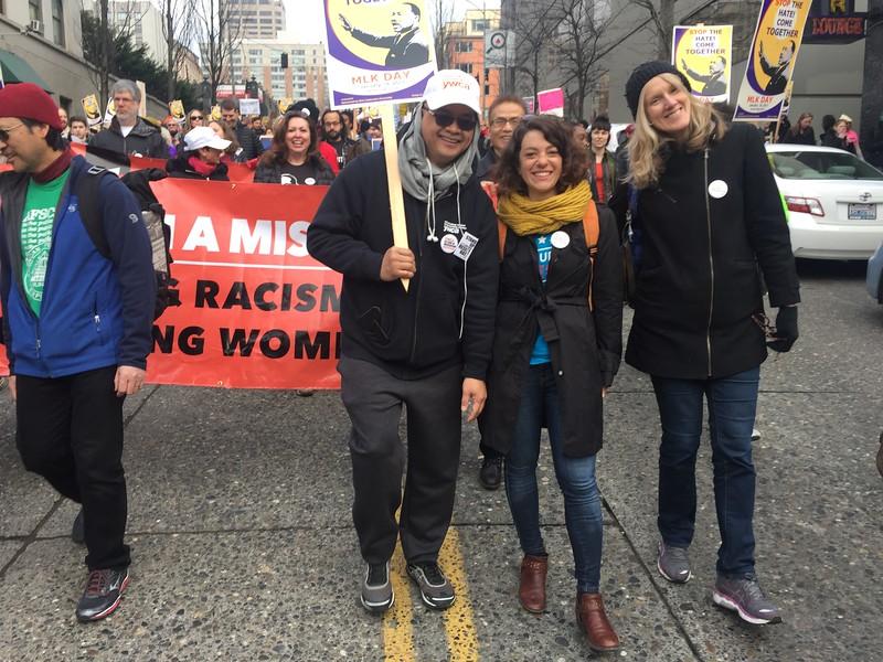 MLK Day March in Seattle, Jan 16, 2017