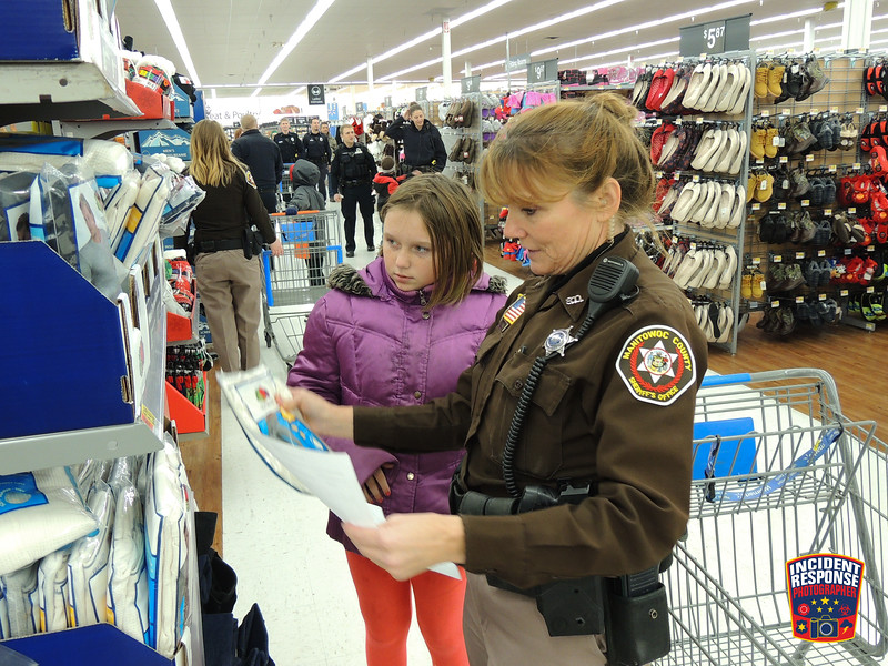 The 7th annual Manitowoc County Shop with a Cop event was held at the Manitowoc Walmart on Wednesday, December 6, 2017. Photo by Asher Heimermann/Incident Response.