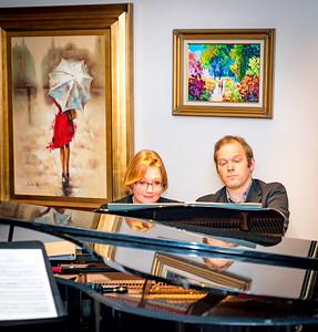 Pianists Christina Wright-Ivanova and Andrei Baumann
