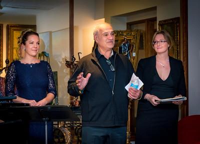 Venue host Ramin Khoshatefeh with NEMPAC's Sherri Snow (left) and Christina Wright-Ivanova