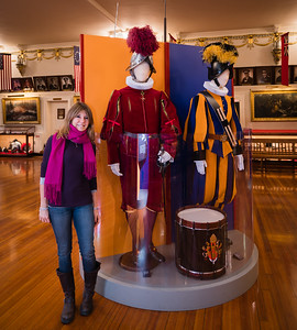Curator of the exhibit, Dr. Romina Cometti of the Vatican Museums