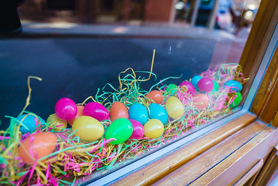 Signs of Easter in Artu's restaurant window