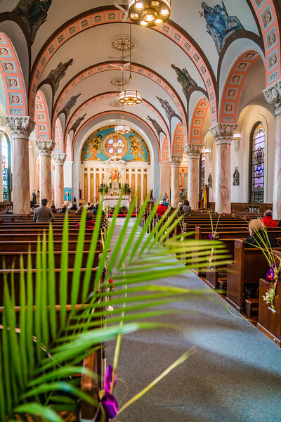 Palm Sunday at Sacred Heart Church in Boston's North End