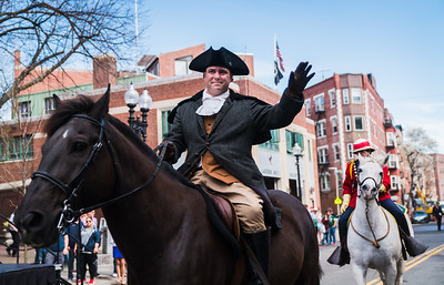 From the National Lancers, Paul Revere actor riding on Brown Beauty in Boston's North End