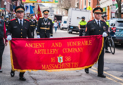 Ancient and Honorable Artillery Company of Massachusetts in the 2017 Patriot's Day Parade