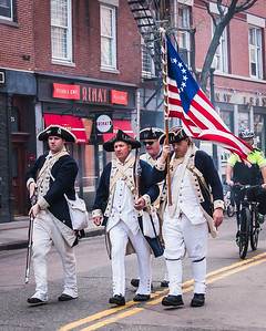 Colonial Militia in the Patriot's Day Parade