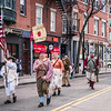 Colonial honor guard in the Patriot's Day Parade