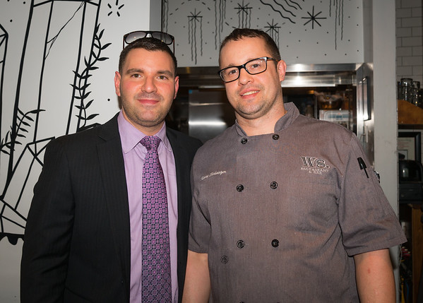 Matthew Imbergamo and Ward 8 head chef Kenny Schweizer