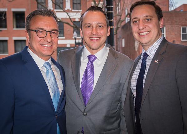 The North End's political team: (L-R) City Councilor Sal LaMattina, State Rep. Aaron Michlewitz and State Senator Joe Boncore