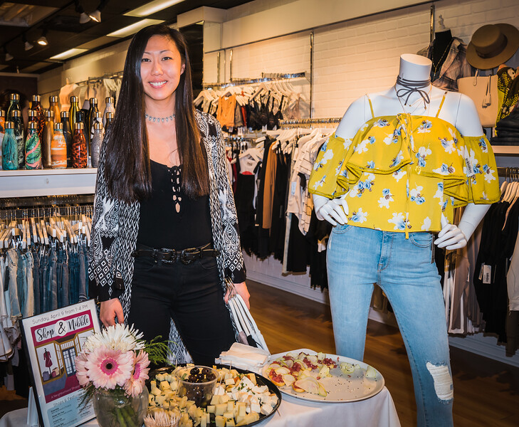 LIsa at the always fashionable LIT on Hanover Street (Nibbles by Bricco)