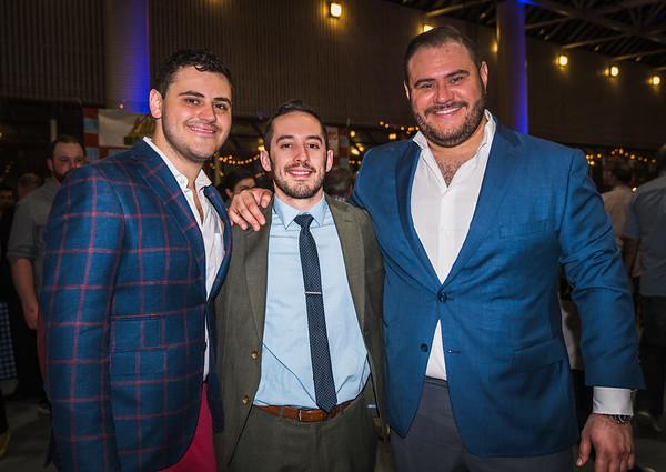 Behind the event, (L-R) Gianni Frattaroli, Zach Goodale and Il Molo's Donato Frattaroli