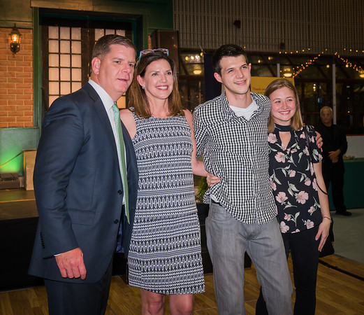 Mayor Marty Walsh with the DiMasi family