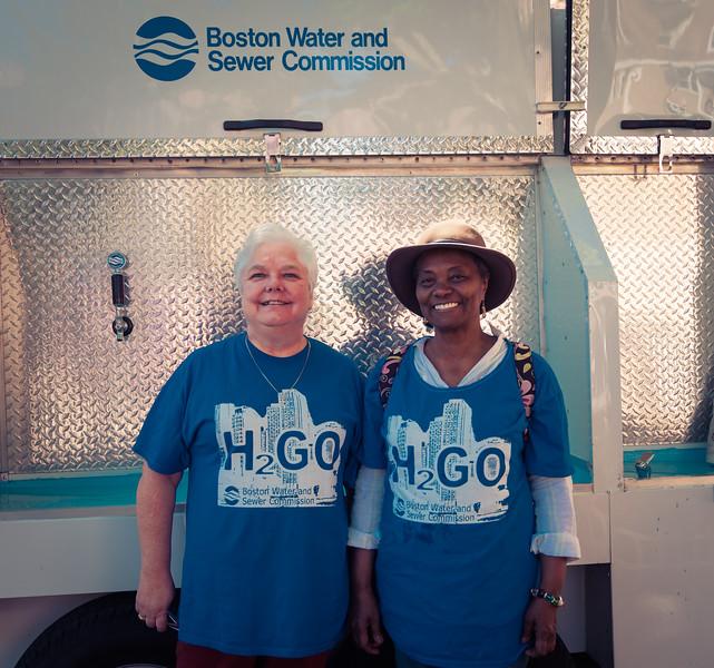 Linda and Fernanda at the BWSC Water Truck