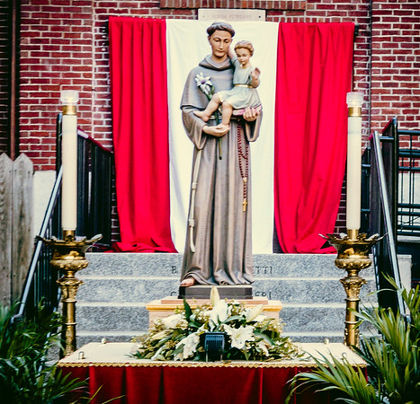 Statue of Saint Anthony in Peace Garden