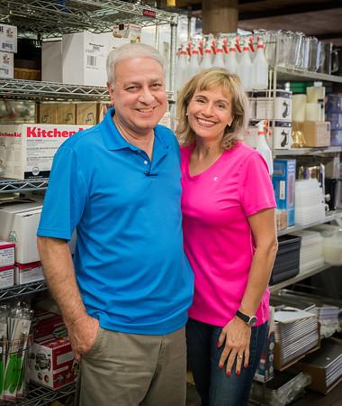 "Robert ""Bobby"" Kalustian and Julie Kalustian at Eastern Bakers Supply Co."