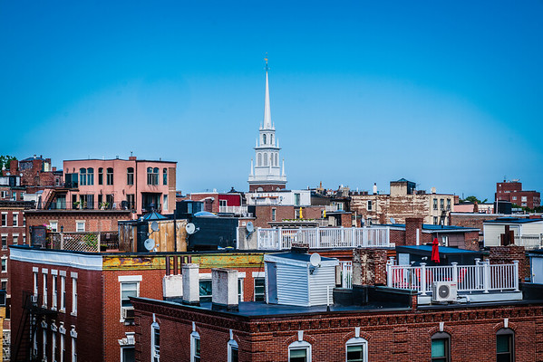 View over the North End toward Old North Church