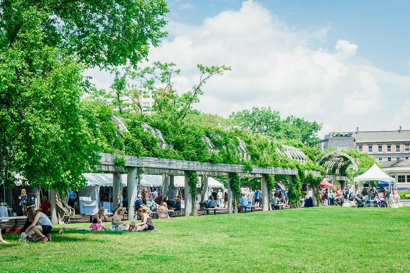 Christopher Columbus Park trellis for Boston Harborfest