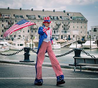 Uncle Sam on Stilts!