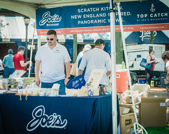 Joe's on the Waterfront gave out their famous Mac 'n Cheese for Boston Harborfest