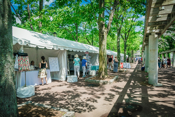 Arts festival booths for Boston Harborfest