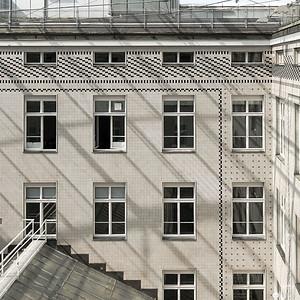 Innenhof der Postsparkasse Wien von Otto Wagner