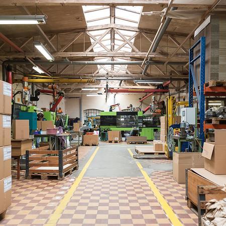 Produktionshalle von Riess Emaille